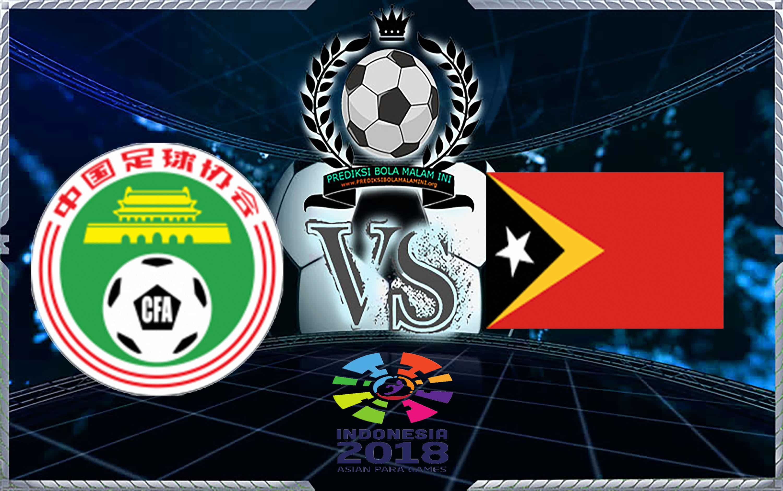 Predictive score Cina Vs TIMOR LESTE 14 Agustus2018