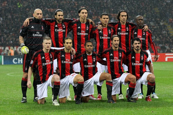 foto team football MILAN
