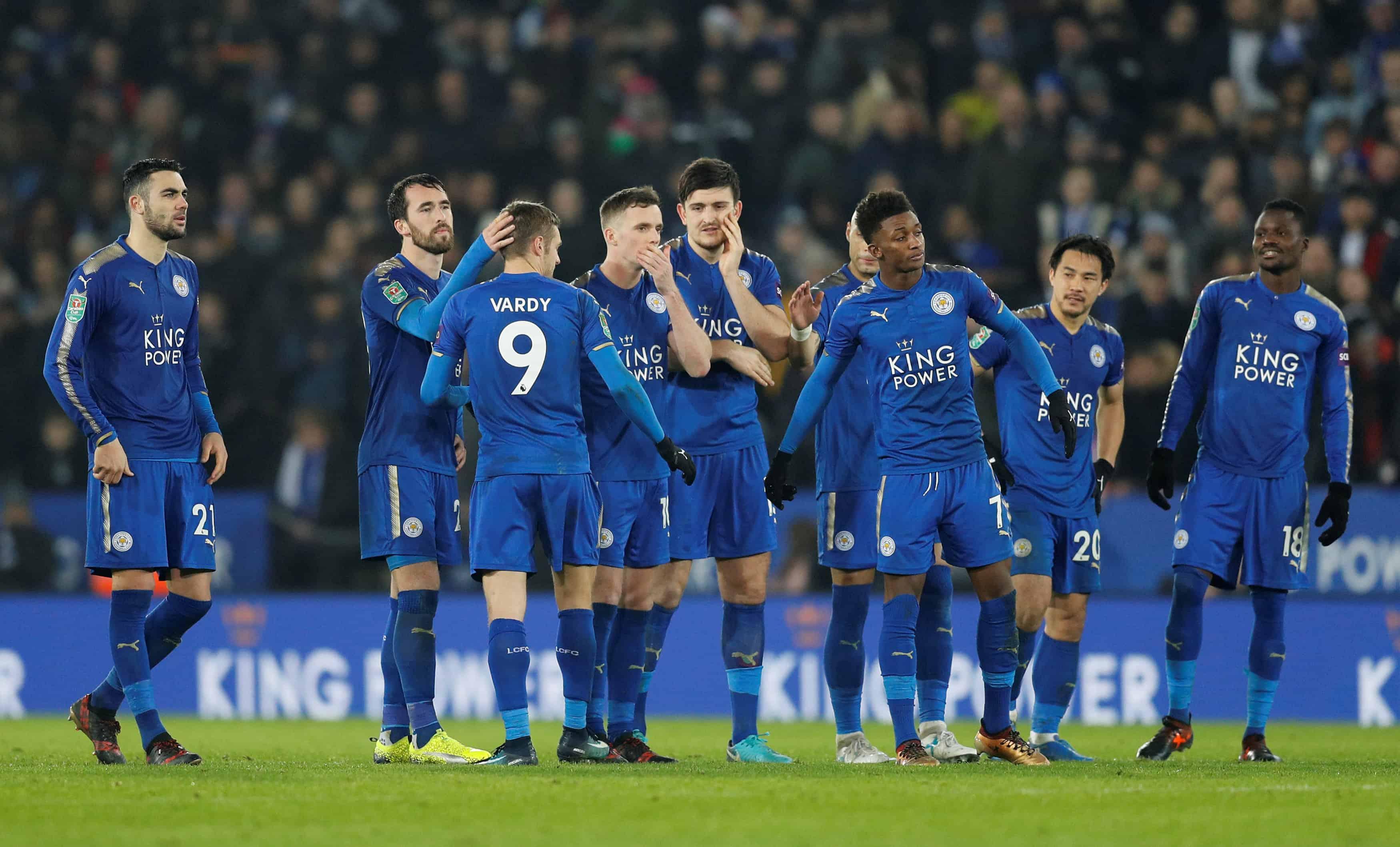 Fotboll, Engelska Ligacupen, kvartsfinal, Leicester - Manchester City