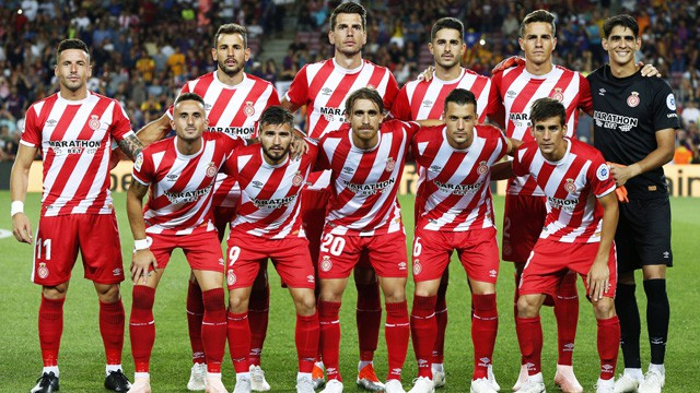 Girona team group Mannschaftsbild Totale line up Girona SEPTEMBER 23 2018 Football Soccer