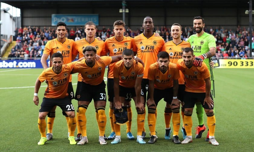 WOLVERHAMPTON WANDERERS football team 2019