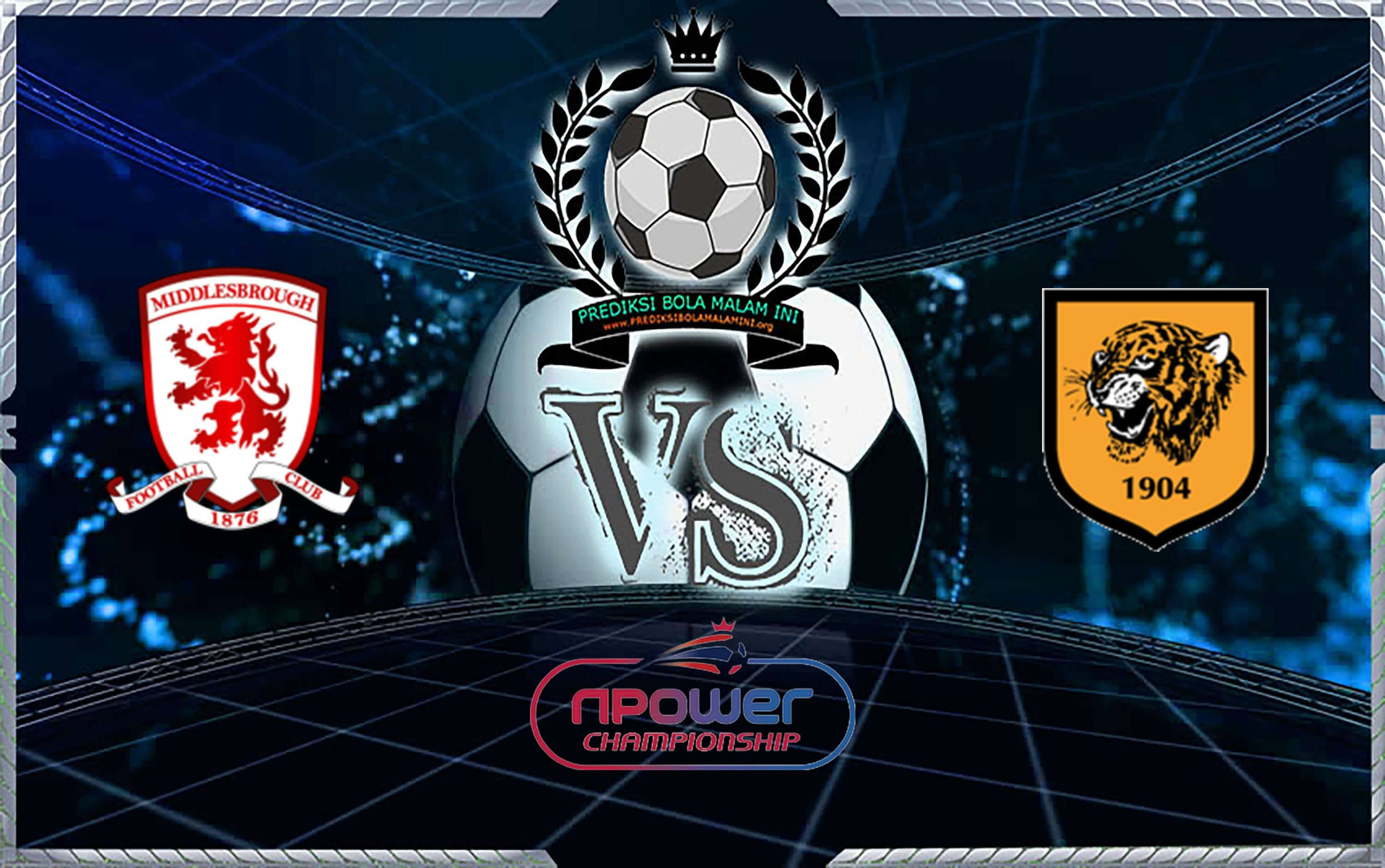 Skor Predixi Middlesbrough Vs Hull City 24 November 2019